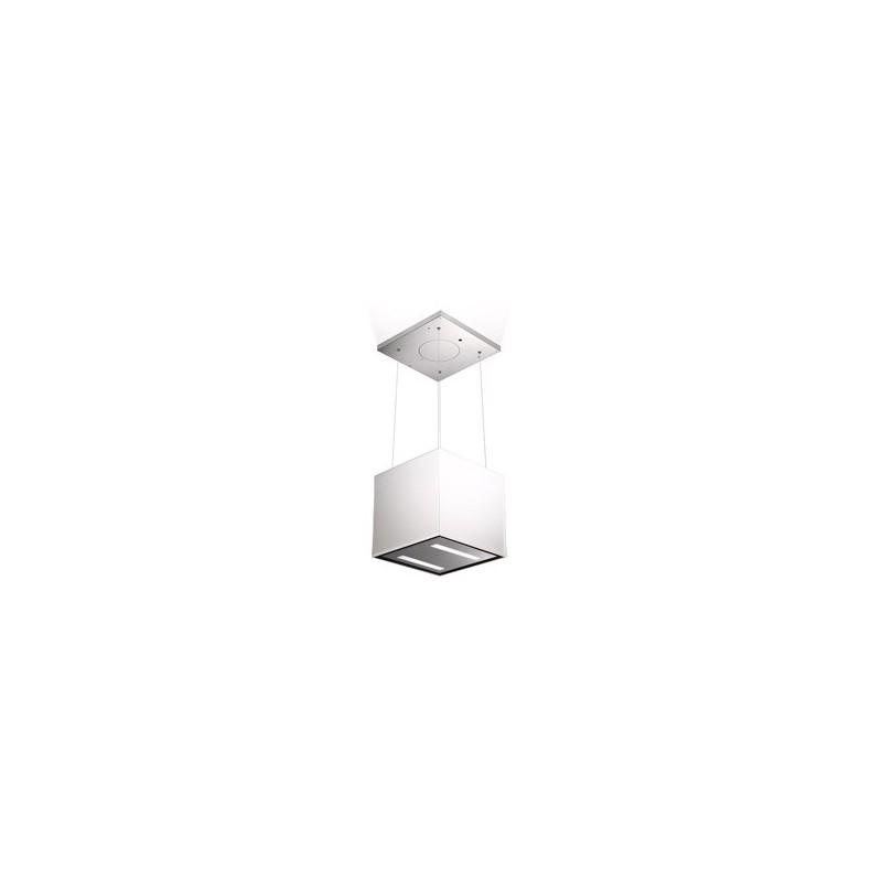 ioelettrodomestici faber 110.0255.507 cappa aspirante a isola lybra plus kl 520m/h classe a acciaio inossidabile bianco