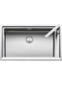 Barazza 1LES91P Lavandino da cucina per installazione Flush Rettangolare Acciaio inossidabile lavello