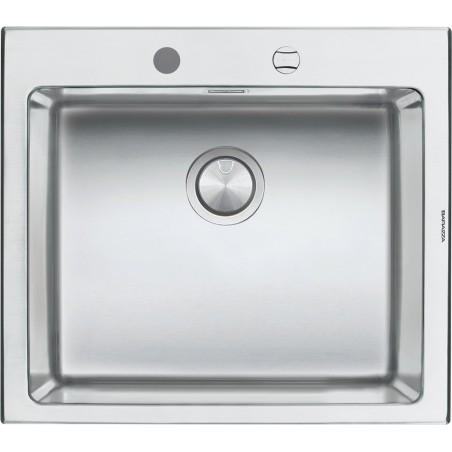 Barazza 1LBO61 Lavandino da cucina 1 vasca Flush Rettangolare Acciaio  inossidabile lavello