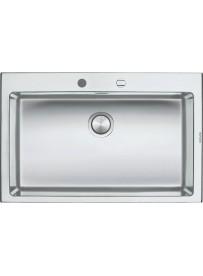 Barazza 1LBO81 Lavandino da cucina per installazione Flush Rettangolare Acciaio inossidabile lavello