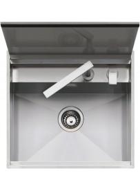 Barazza 1LLB60 Lavandino da cucina per installazione Flush Rettangolare Acciaio inossidabile lavello