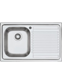 Barazza 1LFS81D Lavandino da cucina per installazione Flush Rettangolare Acciaio inossidabile lavello