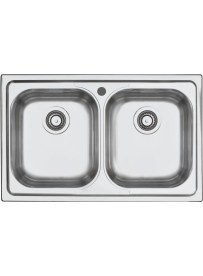 Barazza 1LFS82 Lavandino da cucina per installazione Flush Rettangolare Acciaio inossidabile lavello