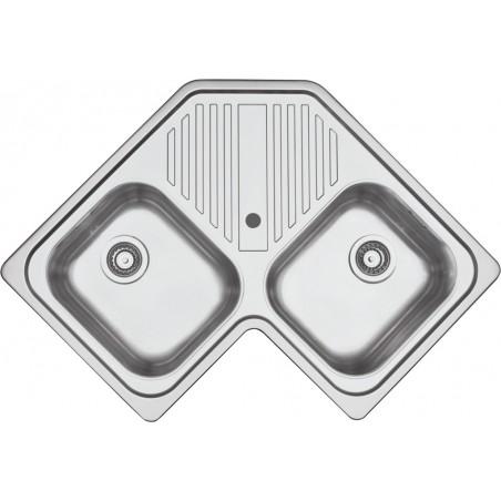 Barazza 1LFS82A Lavandino da cucina per installazione Flush Angolo Acciaio  inossidabile lavello