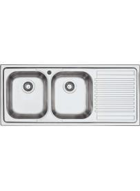 Barazza 1LFS12D Lavandino da cucina per installazione Flush Rettangolare Acciaio inossidabile lavello