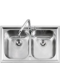 Barazza 1LLV90 2 Lavandino da cucina per installazione Flush Rettangolare Acciaio inossidabile lavello
