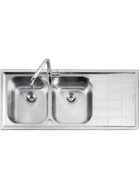 Barazza 1LLV120 2D Lavandino da cucina per installazione Flush Rettangolare Acciaio inossidabile lavello