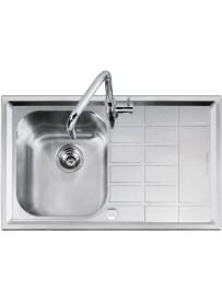 Barazza 1LLV90 1D Lavandino da cucina per installazione Flush Rettangolare Acciaio inossidabile lavello