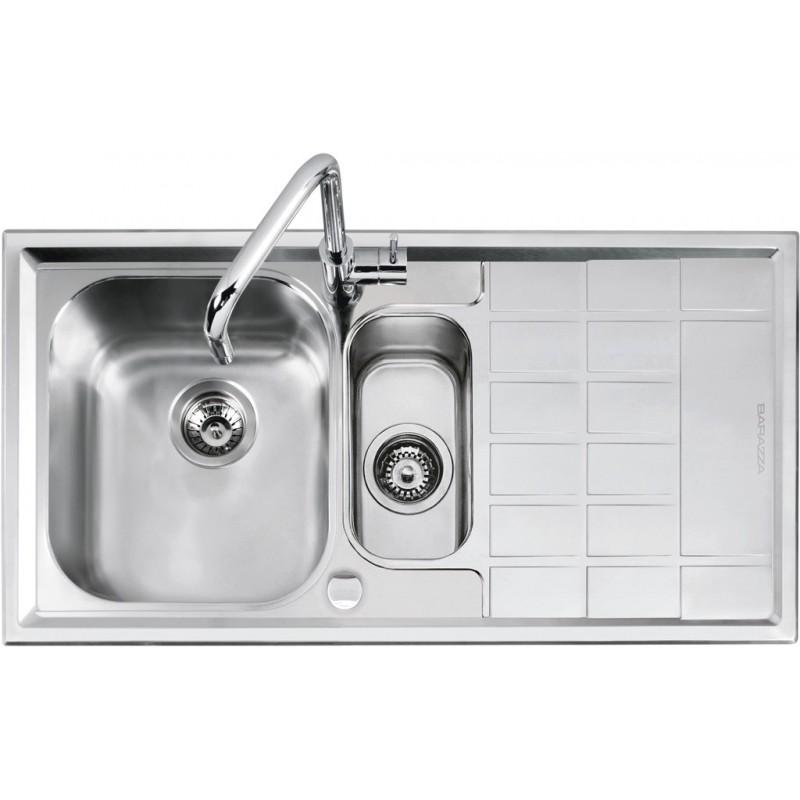 Barazza 1LLV100/D Lavandino da cucina per installazione Flush Rettangolare  Acciaio inossidabile lavello