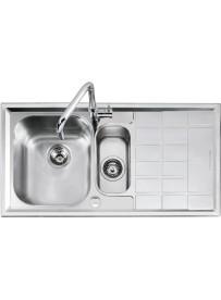 Barazza 1LLV100 D Lavandino da cucina per installazione Flush Rettangolare Acciaio inossidabile lavello