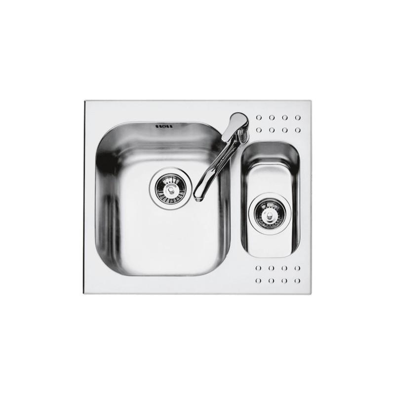 Barazza 1IS6060 Lavandino da cucina top-mount Rettangolare Acciaio ...