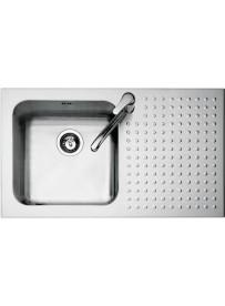 Barazza 1IS9060 1D Lavandino da cucina top-mount Rettangolare Acciaio inossidabile lavello