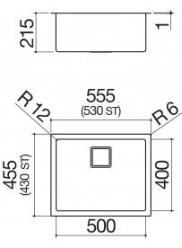 Barazza 1QR5040IQ Lavandino da cucina per installazione Flush Rettangolare Acciaio inossidabile lavello