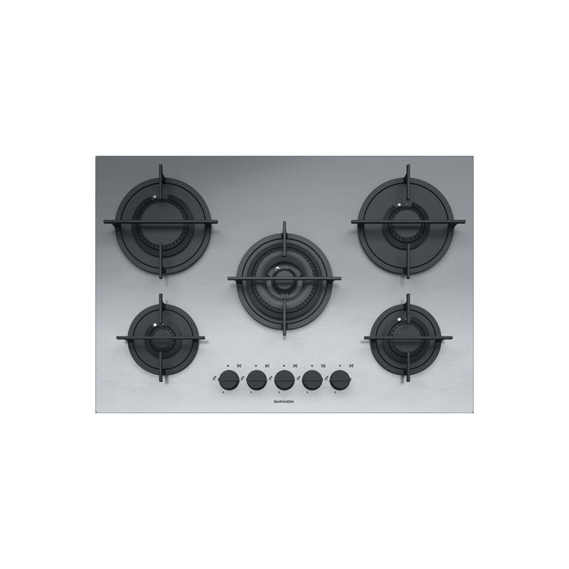 Barazza 1PMD75 Piano Cottura Mood 75cm Incasso Gas 5f Acciaio Inox