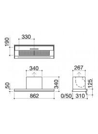 Barazza 1KBC1SP9 Cappa Interno pensile B_Cover One 90cm Acciaio Inox A