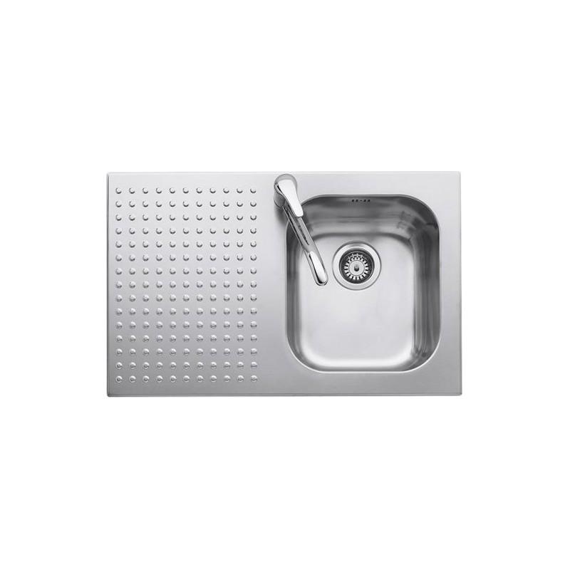 Barazza 1IS8060/1D lavello Lavandino da cucina top-mount Rettangolare  Acciaio inossidabile