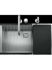 "Barazza 1QR7040IQK Lavandino da cucina Quadre R.""12"" Kit 70x40cm Acciaio inossidabile"