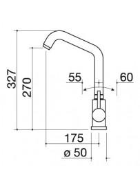 Barazza 1RUBMS2 Miscelatore Select Two Acciaio Inox Satinato
