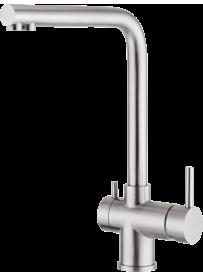 Barazza 1RUBMGL Miscelatore Glass 3 vie Acciaio Inox Satinato