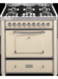 Barazza 1B90M6AVI Cucina Classica 90cm 6 fuochi Avorio/Inox