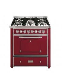 Barazza 1B90M5BOI Cucina Classica 90cm 5 fuochi Bordeaux/Inox