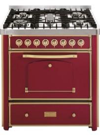 Barazza 1B90M5BOO Cucina Classica 90cm 5 fuochi Bordeaux/Ottone