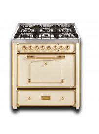 Barazza 1B90M6AVOM Cucina Classica 90cm 6 fuochi con maniglione Avorio/Ottone