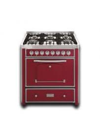 Barazza 1B90M6BOIM Cucina Classica 90cm 6 fuochi con maniglione Bordeaux/Inox