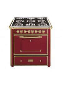 Barazza 1B90M6BOOM Cucina Classica 90cm 6 fuochi con maniglione Bordeaux/Ottone