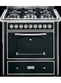 Barazza 1B90M6ANIM Cucina Classica 90cm 6 fuochi con maniglione Antracite/Inox