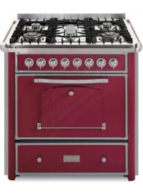 Barazza 1B90M5BOIM Cucina Classica 90cm 5 fuochi con maniglione Bordeaux/Inox