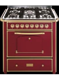 Barazza 1B90M5BOOM Cucina Classica 90cm 5 fuochi con maniglione Bordeaux/Ottone