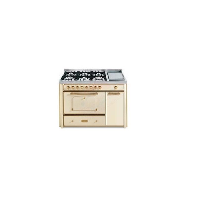Barazza 1B120AVO Cucina Classica 120cm 6 fuochi Avorio/Ottone