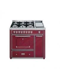 Barazza 1B120BOI Cucina Classica 120cm 6 fuochi Bordeaux/Inox