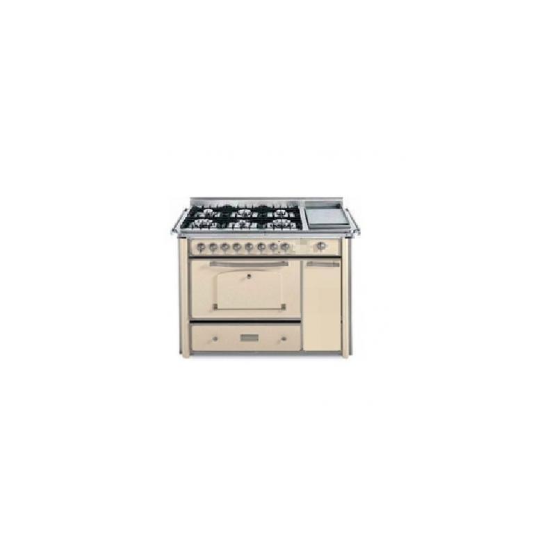 Barazza 1B120AVIM Cucina Classica 120cm 6 fuochi con maniglione Avorio/Inox