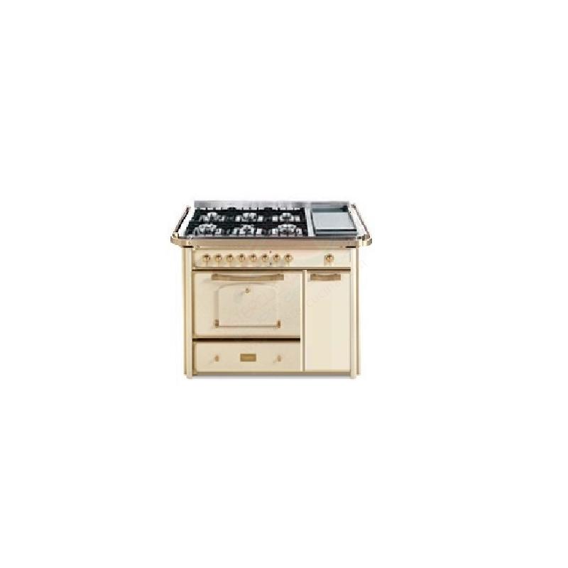 Barazza 1B120AVOM Cucina Classica 120cm 6 fuochi con maniglione Avorio/Ottone