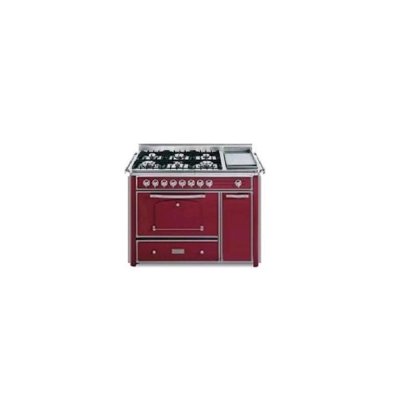 Barazza 1B120BOIM Cucina Classica 120cm 6 fuochi con maniglione Bordeaux/Inox