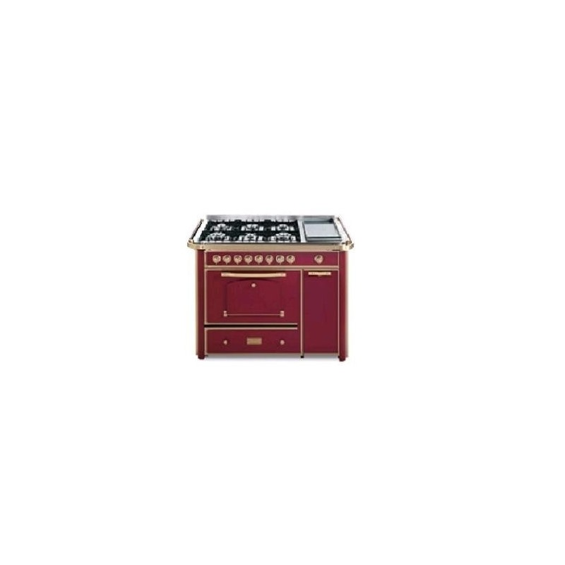 Barazza 1B120BOOM Cucina Classica 120cm 6 fuochi con maniglione Bordeaux/Ottone