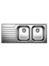BLANCO 1624115 Lavello Dinas 8 S 2 vasche+gocciolatoio 116x50cm Reversibile Acciaio Inox