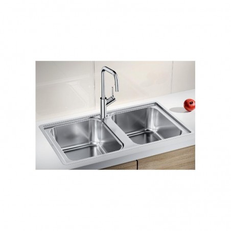 BLANCO 1523039 Lavello Lemis 8-IF 2 vasche 86x50cm Reversibile Acciaio Inox