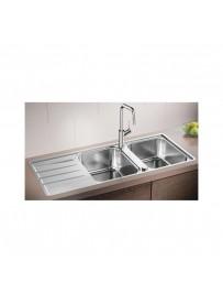 BLANCO 1523037 Lavello Lemis 8 S-IF 2 vasche+gocciolatoio 116x50cm Reversibile Acciaio Inox