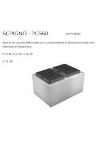 LAVENOX PCS602402 Pattumiera 2 secchi 18L Inox
