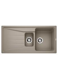 BLANCO 1519858 Sona 6 S lavello 1 vasca+vaschetta+gocciolatoio 100x50cm Silgranit Tartufo