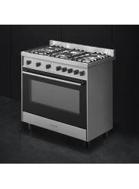 Smeg B90GMXI9 cucina Piano cottura Nero, Acciaio inossidabile Gas A -  PRONTA CONSEGNA
